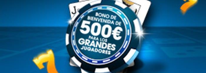 Bono de bienvenida de hasta 1000€ + 10€ en William Hill Casino