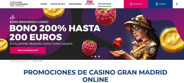 Casino gran Madrid bono