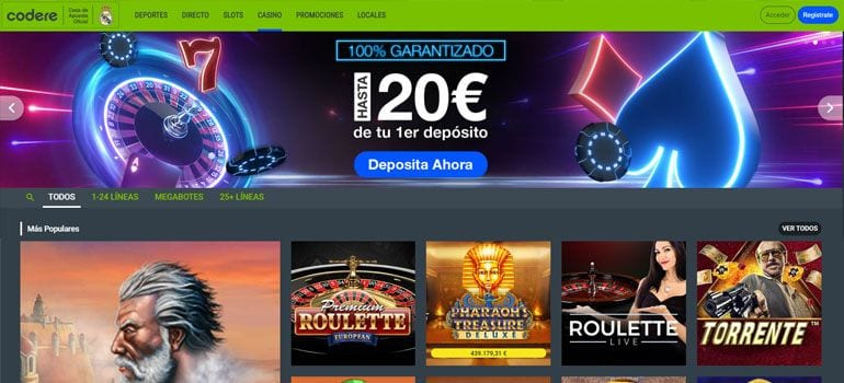Codere bono casino