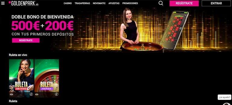 Goldenpark bono casino