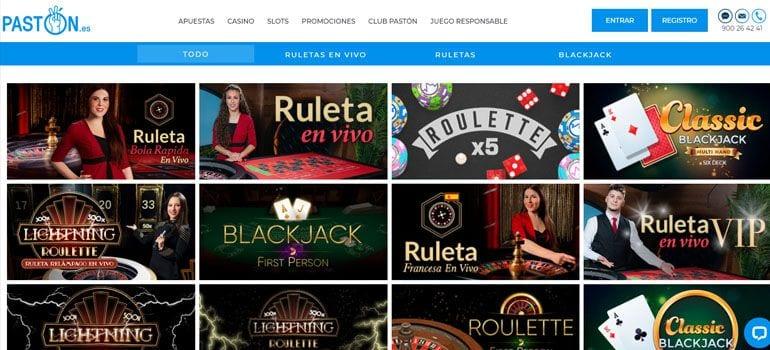 paston casino