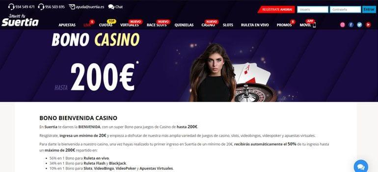Suertia bono casino