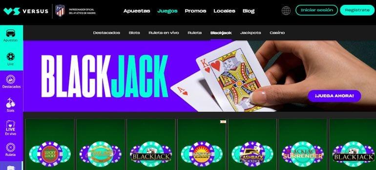 versus blackjack