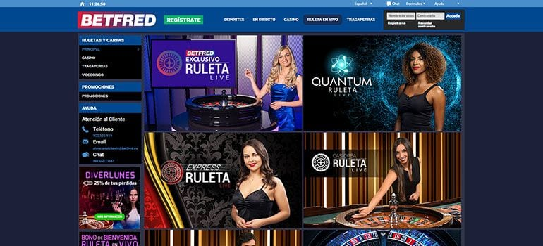 betfred ruleta en vivo