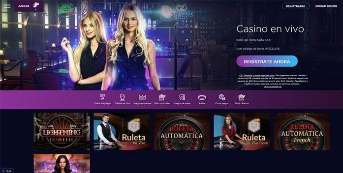 genesis casino bono