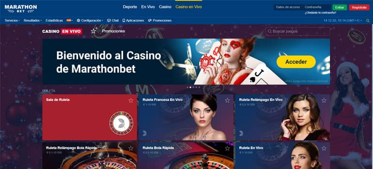 Live casino marathonbet